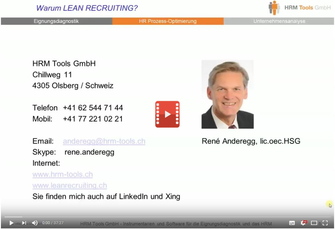 Video Warum Lean Recruiting?