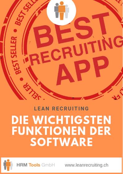 LEAN RECRUITING Features, Funktionen, Merkmale der Bewerbermanagement-Software